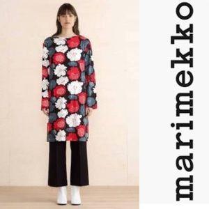 Marimekko Harriet Graphic Floral Longsleeve Dress